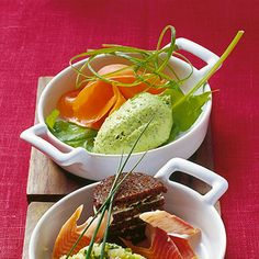 Avocado-Mousse mit Räucherlachs Rezept | Küchengötter