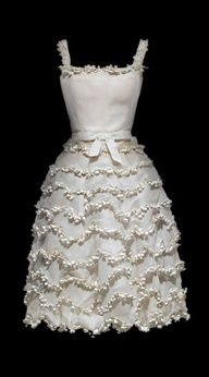 """The """"Muguet"""", Lily of the Valley dress (1954) by Christian Dior"""