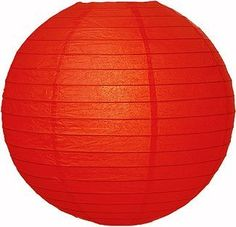Red 30 Inch Round Premium Paper Lantern by Cultural Intrigue. $15.95. Sold by the case: 12 lanterns per case. Please order a quantity that is a multiple of 12. This large red Premium paper lantern is made with the finest quality rice paper and features parallel bamboo ribbing. These lanterns are intended for use with cord sets or battery lights only. Please note that the No Frills colors do not match our Premium lantern colors although they may share the same colo...