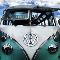 volkswagen A VW bus always makes me happy......I would love to own one.