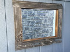 Custom barn board mirrors that can be made to any size! Lightbox, Mirrors, Frames, Rustic, Home Decor, Country Primitive, Decoration Home, Rustic Feel, Room Decor