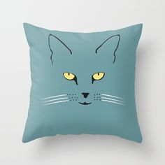 Cat with yellow eyes - $20 Yellow Eyes, Totally Awesome, Living Room Art, Good Vibes, Tweety, Art Ideas, Throw Pillows, Decoration, Cats