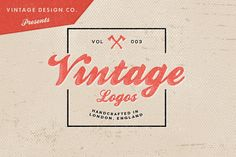 (Free week is over, but it's pretty cheap anyway!) :D Check out Vintage Logos - Volume 3 by Vintage Design Co.  @ Creative Market! http://crtv.mk/tUod
