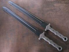 Blades Set of Modern Tactical Swords Swords And Daggers, Knives And Swords, Tactical Swords, Tactical Knives, Tactical Gear, Sword Design, Fantasy Weapons, Fantasy Armor, Cool Knives