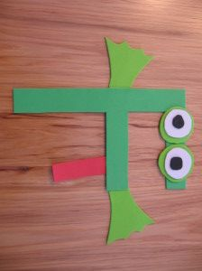 frog craft 300x224 Letter F Crafts