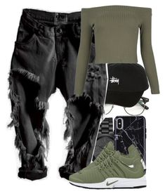 """Untitled #5802"" by rihvnnas ❤ liked on Polyvore featuring Michael Kors, Stussy and WithChic"