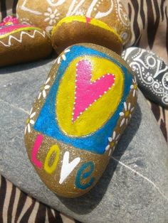 Hand painted stones and pebbles £5.00