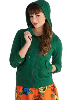 Leipzig Hoodie in Emerald, Suze M, #ModCloth