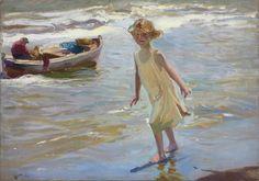"""Niña en la playa"" by Joaquín Sorolla. (1910)"