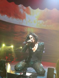 Demi performing at Amway Center in Orlando, FL - July 2nd