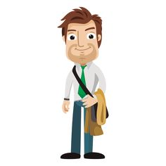 Funny architect cartoon png
