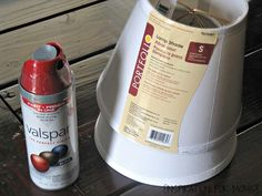 Learn How to Spray Paint Lamp Shades (And Your Lamps, Too!) Learn How to Spray Paint Lamp Shades (An Painting Lamp Shades, Painting Lamps, Spray Painting, Lamp Redo, Lamp Makeover, Recover Lamp Shades, Spray Paint Lamps, Paint Stain, Bedroom Lamps