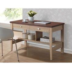 Baxton Studio Tyler Sonoma Oak Finishing Modern Writing Desk   Overstock.com Shopping - The Best Deals on Desks