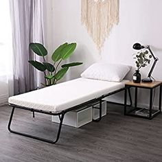 Amazing offer on LEISUIT Rollaway Guest Bed Cot Fold Out Bed - Portable Folding Bed Frame Thick Memory Foam Mattress Spare Bedroom & Office online - Prettyclothingstyle Folding Bed Frame, Folding Guest Bed, Folding Beds, Spare Bedroom Office, Office Bed, Master Bedroom, Murphy Bed Kits, Fold Out Beds, Outdoor Living