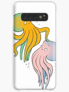 This brand new 'Octopuses Playing' design will look great on any product. It is fun, cute and eye-catching. / Find somebody the perfect gift! Choose from the many varieties of products and BUY IT NOW to place your order. Octopuses, Galaxy Design, Iphone Wallet, Protective Cases, Finding Yourself, Samsung Galaxy, Tech, Artists, Unique