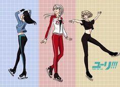 Znalezione obrazy dla zapytania yuri on ice girls love