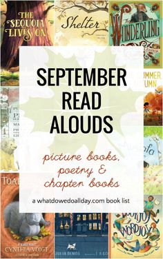 September Read Alouds that Will Power Up Your Fall Best children's books to read aloud during September! These fall picture books and cozy chapter books are the best read alouds for classrooms and families. Best Children Books, Childrens Books, Library Books, Kid Books, Baby Books, Homeschool Books, Homeschooling, Kids Reading, Reading Books