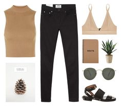 """""""Champagne Coast"""" by carocuixiao ❤ liked on Polyvore featuring Topshop, Acne Studios, Base Range, Givenchy and Ray-Ban"""