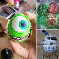 decorated eggs | ... alongside us to decorate a spring basket full of clever egg designs