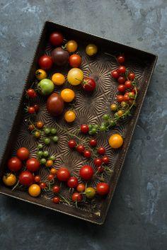 Heirloom tomato still life