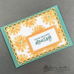 The smooth edges on the Basic White layers let the stamped images and fancy edges of the Pale Papaya frames shine through. Measurements for internal layers free download. #nancysniftynotes Color Contour, Nifty, Stampin Up, Frames, Layers, Smooth, Notes, Fancy, Cards