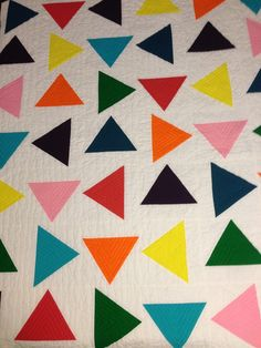 Modern Triangle Quilt!