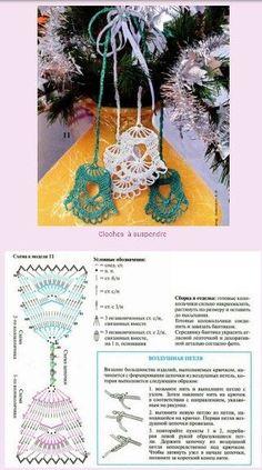 Best 11 Ela Klementowicz's media content and analytics – SkillOfKing. Thread Crochet, Crochet Motif, Crochet Designs, Crochet Doilies, Crochet Patterns, Etsy Christmas, Christmas Bells, Christmas Crafts, Christmas Decorations