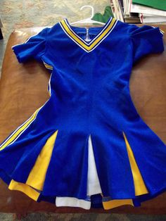 Vintage 1960s Gold Blue Wool Texas High School Cheerleader Uniform SM | eBay
