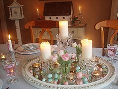 images of Easter table setting - Google Search