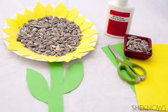 4 Sunflower crafts for kids Loved sneaking in some learning with these sunny art projects that were easy enough for my preschooler to make along with me! @SheKnows #sunflower #crafts #kids