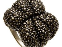 eBlueJay: GENUINE MARCASITE CLUSTER sterling silver ring - size 6