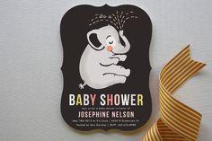 Baby Elephant Baby Shower Invitations