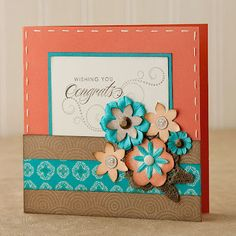 """Try shrinking your scrapbook patterns by half to create 6"""" x 6"""" cards! #CTMH"""