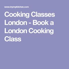 Cookery dating london