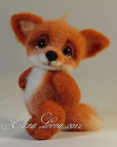 Needle felting tutorial  fox, this is too cute I want to make this for my little sister.