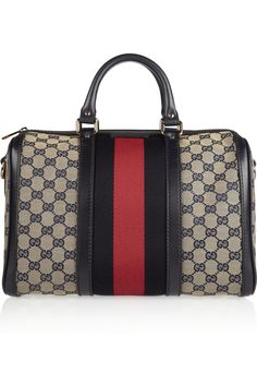 Gucci vintage Web monogram canvas duffel bag. I want.