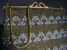 French Cut Steel Micro Beaded Handbag Accessories Collectible