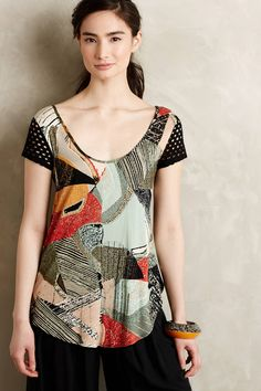 Laced Swing Tee by Weston from Anthropologie
