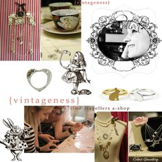 Moodboard designed by/article written by Lisa Roberts/OneDropOfInk  -- published: Canadian fashion blog, 'Boutique Mademoiselle Vintage' (2010)
