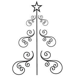 Weihnachten-Bäume-Stickerei 1680