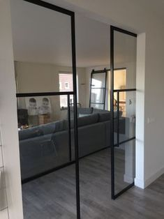 Love this style glass pocket doors Interior Pocket Doors, Sliding Pocket Doors, Interior Barn Doors, Glass Pocket Doors, Glass Doors, Door Design, House Design, Design Design, Interior Design