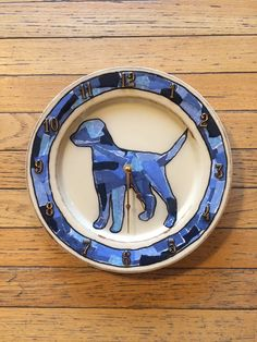 DOG DESIGN decoupage clocks made from recycled plates by crazyclocklady on Etsy https://www.etsy.com/listing/222767939/dog-design-decoupage-clocks-made-from