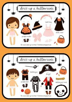 Free Halloween Paper Dolls from Babelisme | Apartment Therapy