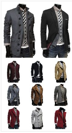 men's jacket porn...I would love to see David Tennant take every one of these off...