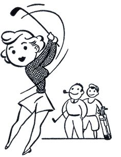 Retro Golf Lady Clip Art http://www.pinterest.com/kytetommy/retro-ladies/