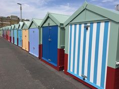 Row upon row of beach huts between Hove and Brighton. #hove #hovebeach #beachhuts #Brighton #brightonbeach #vanishingpoint
