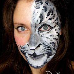 And now: a snow leopard...ROAR!! #snowleopard #snowleopardfacepaint #facepaint #facepainting #intfps #doodlez #kinderschminkenhusum #kinderschminkennordfriesland