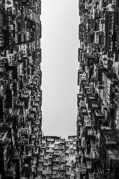 Black and White colors of Hong Kong
