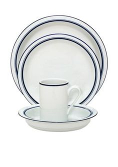 Dansk 16 Pc Cafe Blanc Stripe Dinnerware Set In 2019 Dinnerware