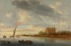 Salomon van Ruysdael - Kasteel bij een rivier (1644)